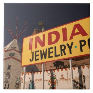NA, los E.E.U.U., Arizona, indio de Lupton Yellowh Azulejo Cuadrado Grande