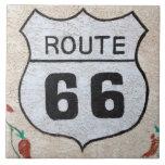 NA, los E.E.U.U., Arizona, placa de calle de la ru Azulejo Cuadrado Grande