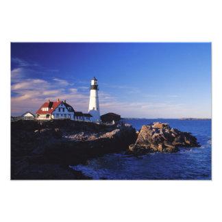 NA, los E.E.U.U., Maine. Faro principal de Portlan Fotografía