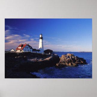 NA, los E.E.U.U., Maine. Faro principal de Portlan Posters