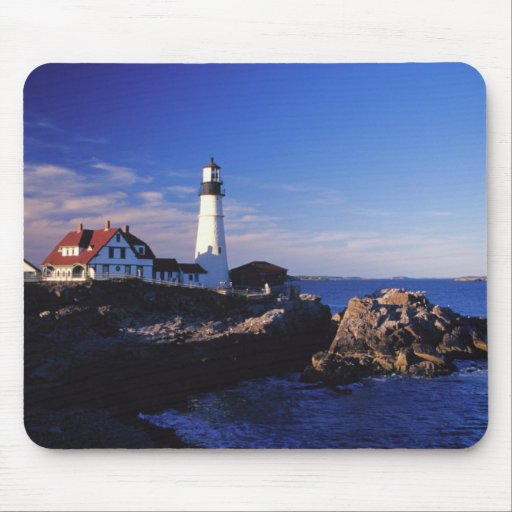 NA, los E.E.U.U., Maine. Faro principal de Portlan Tapete De Raton