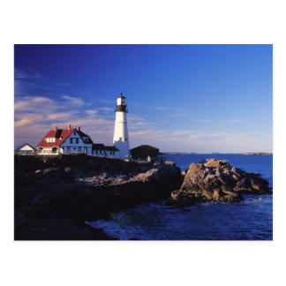 NA, los E.E.U.U., Maine. Faro principal de Postales