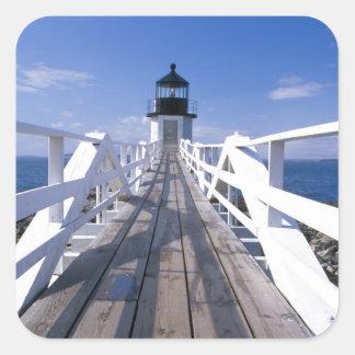 NA, los E.E.U.U., Maine, puerto Clyde.  Punto 2 de Colcomanias Cuadradases