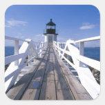 NA, los E.E.U.U., Maine, puerto Clyde.  Punto 2 de Pegatina Cuadrada