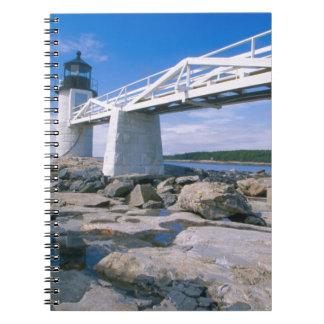 NA, los E.E.U.U., Maine, puerto Clyde.  Punto de M Cuaderno