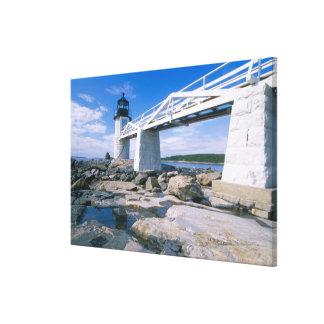 NA, los E.E.U.U., Maine, puerto Clyde.  Punto de M Lona Estirada Galerías