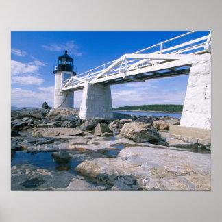 NA, los E.E.U.U., Maine, puerto Clyde.  Punto de M Póster