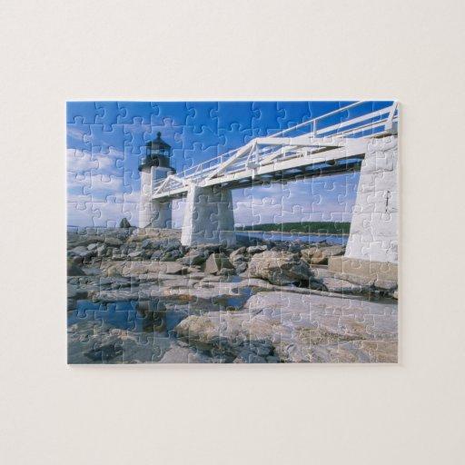 NA, los E.E.U.U., Maine, puerto Clyde.  Punto de M Puzzles