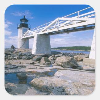 NA, los E.E.U.U., Maine, puerto Clyde.  Punto de Pegatina Cuadrada