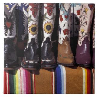NA, los E.E.U.U., New México, Santa Fe. Botas de v Azulejo Cuadrado Grande