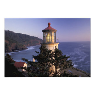 NA, los E.E.U.U., Oregon, faro principal de Heceta Arte Fotografico