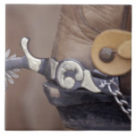 NA, los E.E.U.U., Tejas, bota de vaquero de Lubboc Azulejo Cuadrado Grande