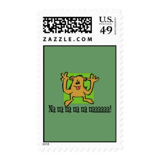 Na Na Bear Postage Stamp