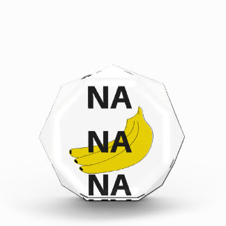 Na Na Na Banana Design Illustration Text Acrylic Award
