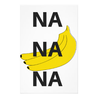 Na Na Na Banana Design Illustration Text Stationery