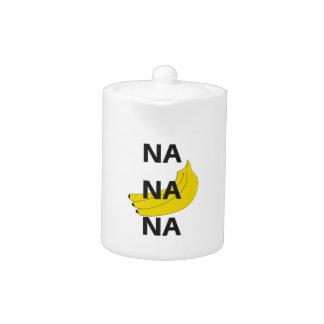Na Na Na Banana Design Illustration Text Teapot