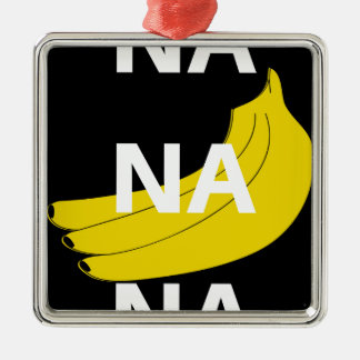 Na Na Na Banana Illustration Design Text Metal Ornament