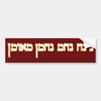Na Nach Nachma Nachman Meuman Car Bumper Sticker