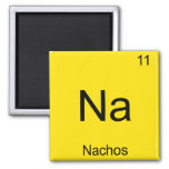 Na - Nachos Funny Chemistry Element Symbol T-Shirt 2 Inch Square Magnet