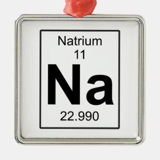 Na - Natrium Metal Ornament