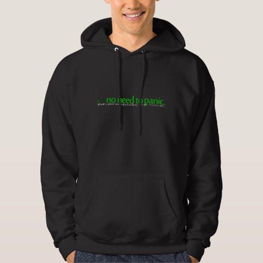 na|no need to panic hoodie - dark