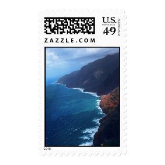 na pali coast kauai postage stamp