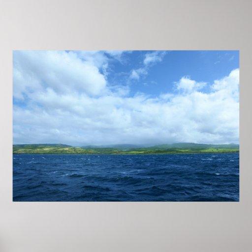 na pali coast kauai waimea print