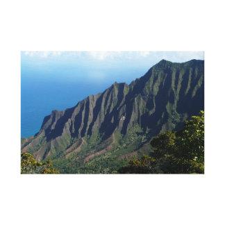 Na Pali Coast on Kauai canvas print