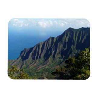 Na Pali Coast on Kauai rectangular magnet