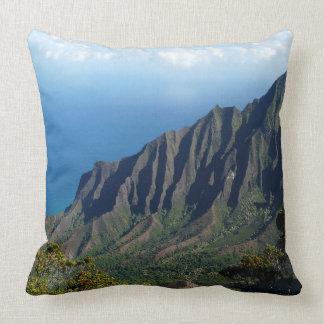 Na Pali Coast on Kauai throw pillow