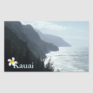 Na Pali Coast Rectangular Sticker