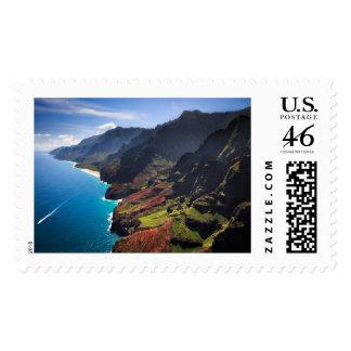 Na Pali Coastline on the Island of Kauai Hawaii Postage Stamp