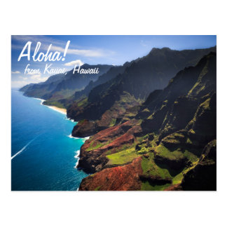 Na Pali Coastline on the Island of Kauai, Hawaii Postcard