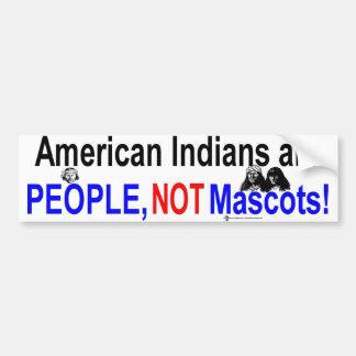 NA people not mascots Bumper Sticker