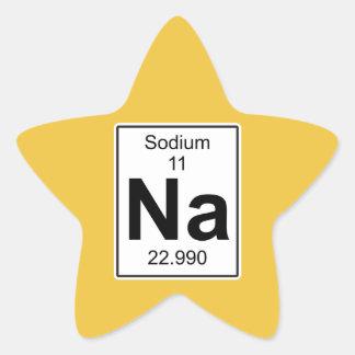 Na - Sodium Star Sticker