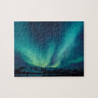 NA, USA, Alaska, Brooks Range, Curtains of green Jigsaw Puzzle