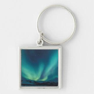 NA, USA, Alaska, Brooks Range, Curtains of green Keychain