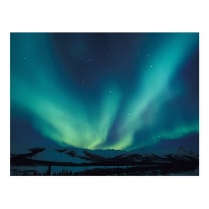 NA, USA, Alaska, Brooks Range, Curtains of green Postcard