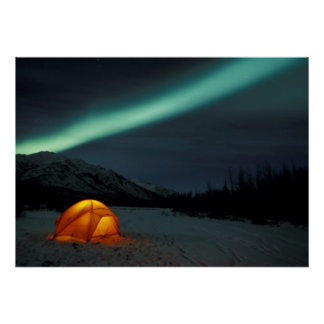 NA, USA, Alaska, Brooks Range. Curtains of green Poster