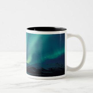 NA, USA, Alaska, Brooks Range, Curtains of green Two-Tone Coffee Mug
