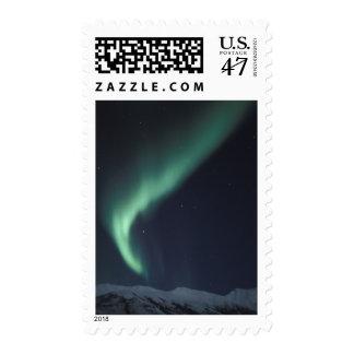NA, USA, Alaska,  Brooks Range Northern lights, Postage