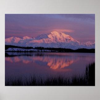 NA, USA, Alaska. Denali National Park. Mt Poster