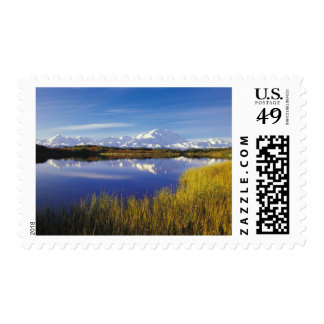 NA, USA, Alaska, Denali NP Mt. McKinley in Postage Stamps