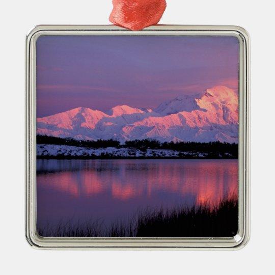 NA, USA, Alaska, Denali NP, Mt. McKinley, Metal Ornament