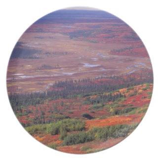 NA, USA, Alaska, Denali NP, View of McKinley Party Plates