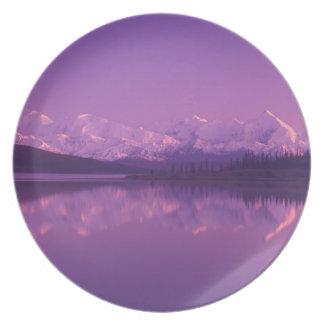 NA, USA, Alaska, Denali NP, Wonder Lake, Evening Plate