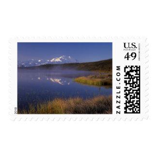 NA, USA, Alaska, Denali NP, Wonder Lake, Morning Stamp