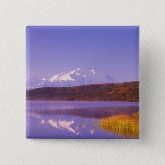 NA, USA, Alaska, Denali NP, Wonder Lake, Mt. Button