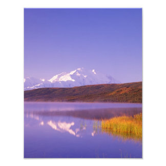 NA, USA, Alaska, Denali NP, Wonder Lake, Mt. Photo Print