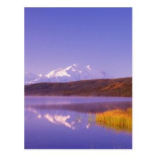 NA, USA, Alaska, Denali NP, Wonder Lake, Mt. Postcard